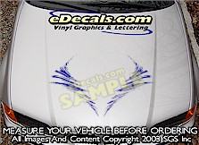 HDA183 Twister Tornado Hood Accent Graphic Decal