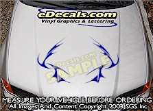 HDA184 Tribal Hood Accent Graphic Decal