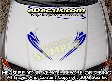 HDA185 Tribal Hood Accent Graphic Decal