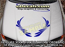 HDA188 Hood Accent Graphic Decal