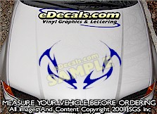HDA189 Tribal Hood Accent Graphic Decal