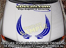 HDA191 Hood Accent Graphic Decal