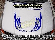 HDA192 Lightning Bolt Hood Accent Graphic Decal
