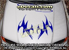 HDA193 Tribal Hood Accent Graphic Decal