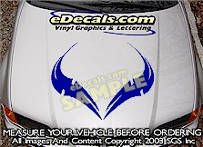 HDA194 Hood Accent Graphic Decal