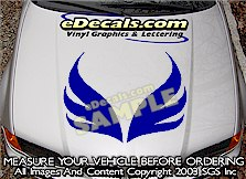 HDA195 Hood Accent Graphic Decal