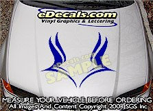HDA196 Hood Accent Graphic Decal