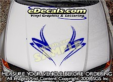 HDA197 Hood Accent Graphic Decal