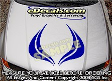 HDA198 Hood Accent Graphic Decal