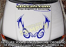 HDA200 Tribal Hood Accent Graphic Decal
