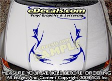HDA201 Tribal Hood Accent Graphic Decal