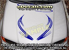 HDA202 Tribal Hood Accent Graphic Decal