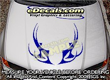 HDA203 Tribal Hood Accent Graphic Decal