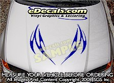 HDA204 Tribal Hood Accent Graphic Decal