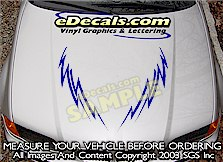HDA205 Tribal Hood Accent Graphic Decal