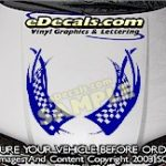 HDA207 Checkered Hood Accent Graphic Decal