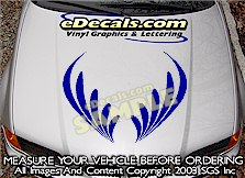 HDA208 Hood Accent Graphic Decal