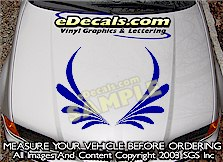 HDA209 Hood Accent Graphic Decal