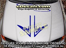 HDA210 Hood Accent Graphic Decal