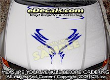 HDA213 Hood Accent Graphic Decal