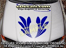HDA214 Hood Accent Graphic Decal