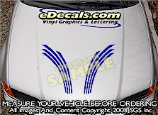 HDA216 Hood Accent Graphic Decal