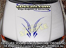 HDA217 Hood Accent Graphic Decal