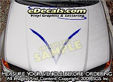HDA218 Hood Accent Graphic Decal