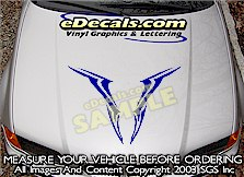 HDA221 Hood Accent Graphic Decal