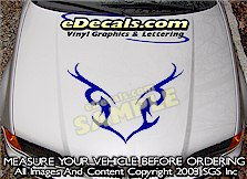 HDA222 Tribal Hood Accent Graphic Decal