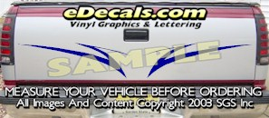 HDA501 Tribal Tailgate Accent Graphic Decal