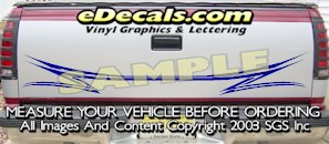HDA502 Tribal Tailgate Accent Graphic Decal