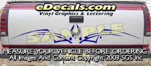 HDA503 Tribal Tailgate Accent Graphic Decal
