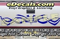 HDA504 Tribal Tailgate Accent Graphic Decal