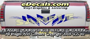HDA505 Tribal Tailgate Accent Graphic Decal