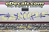 HDA506 Tribal Tailgate Accent Graphic Decal