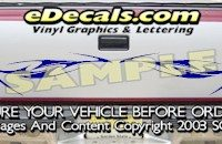HDA507 Tribal Tailgate Accent Graphic Decal