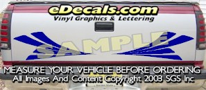 HDA508 Tribal Tailgate Accent Graphic Decal