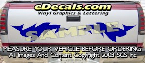 HDA509 Tribal Tailgate Accent Graphic Decal