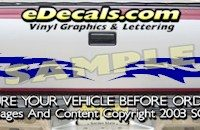 HDA510 Lightning Bolts Tribal Tailgate Accent Graphic Decal