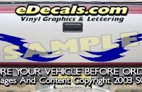 HDA511 Tribal Tailgate Accent Graphic Decal