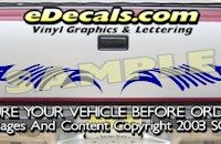 HDA512 Tribal Tailgate Accent Graphic Decal