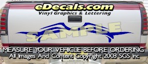 HDA513 Tribal Tailgate Accent Graphic Decal