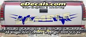 HDA514 Tribal Tailgate Accent Graphic Decal