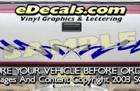 HDA515 Tribal Tailgate Accent Graphic Decal