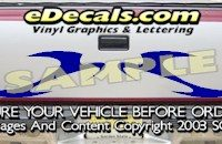 HDA517 Tribal Tailgate Accent Graphic Decal