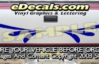 HDA518 Tribal Tailgate Accent Graphic Decal