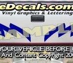 HDA519 Tribal Tailgate Accent Graphic Decal