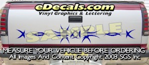 HDA520 Tribal Tailgate Accent Graphic Decal