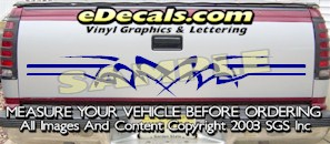 HDA521 Tribal Tailgate Accent Graphic Decal